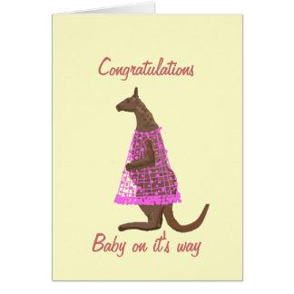 Tarjeta de la enhorabuena del embarazo