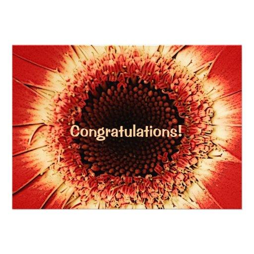 tarjeta de la enhorabuena del herbera invitaciones personalizada