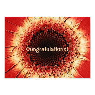 tarjeta de la enhorabuena del herbera invitación 12,7 x 17,8 cm