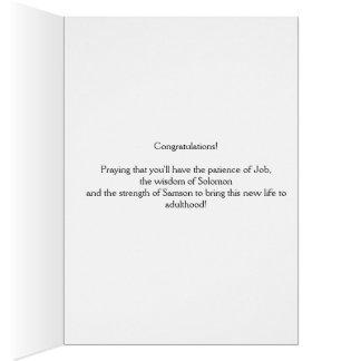 Tarjeta de la enhorabuena del nacimiento del bebé