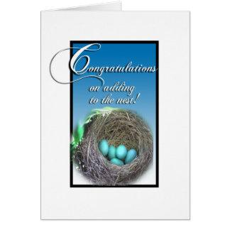Tarjeta de la enhorabuena - (embarazo o adopción)