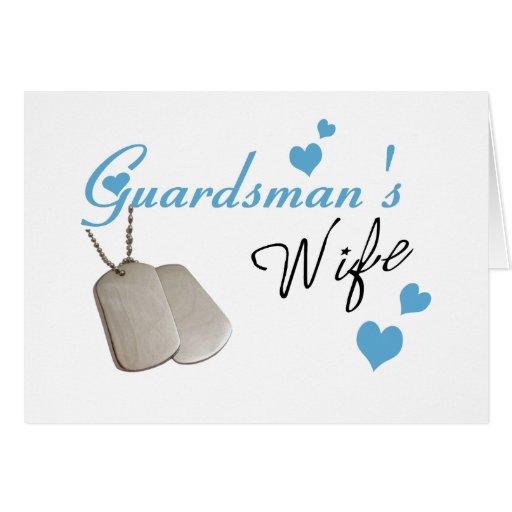 Tarjeta de la esposa del soldado de la guardia