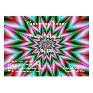 Tarjeta de la estrella del verde y del rosa tarjetas de visita grandes