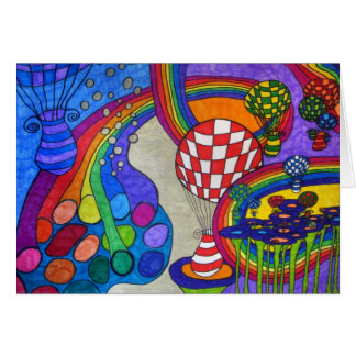 Tarjeta de la fábrica del arco iris