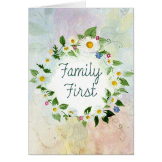 Tarjeta De la familia cita inspirada primero