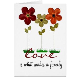 tarjeta de la familia de la adopción
