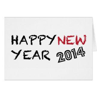Tarjeta de la Feliz Año Nuevo 2014