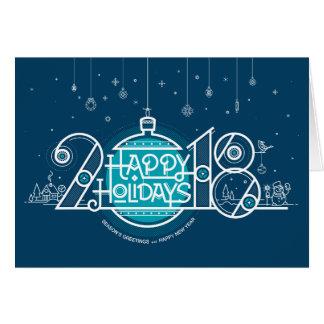 Tarjeta de la Feliz Año Nuevo 2018