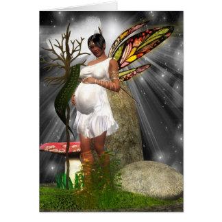 Tarjeta de la fiesta de bienvenida al bebé - hada