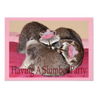 tarjeta de la fiesta de pijamas invitación 12,7 x 17,8 cm