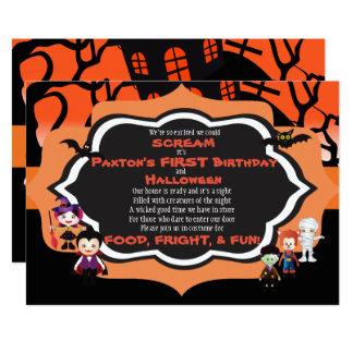 Tarjeta de la fiesta del cumpleaños del niño de la