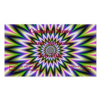 Tarjeta de la flor de la estrella del verde y del tarjetas de visita