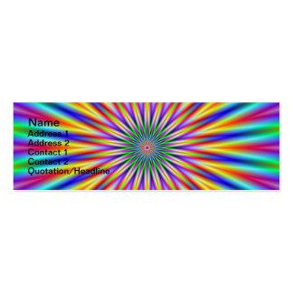 Tarjeta de la flor de la estrella tarjetas de visita mini