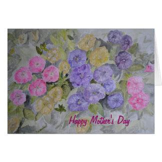 Tarjeta de la flor del día de madres de la pintura
