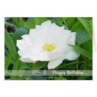 Tarjeta de la flor del feliz cumpleaños
