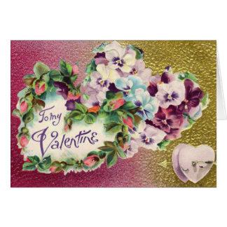 Tarjeta de la flor del pensamiento de la tarjeta