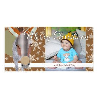 Tarjeta de la foto de Brown del navidad de Moses I Tarjeta Personal