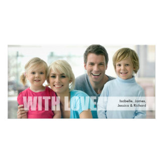 Tarjeta de la foto de familia del amor del el día  tarjetas fotográficas