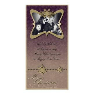 Tarjeta de la foto de familia del día de fiesta de tarjetas con fotos personalizadas