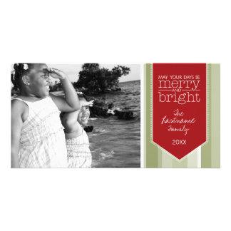 Tarjeta de la foto de familia - día de fiesta y tarjetas fotográficas personalizadas