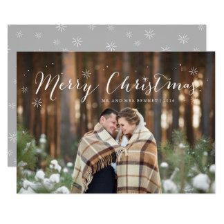 Tarjeta de la foto de la chispa del navidad invitación 12,7 x 17,8 cm