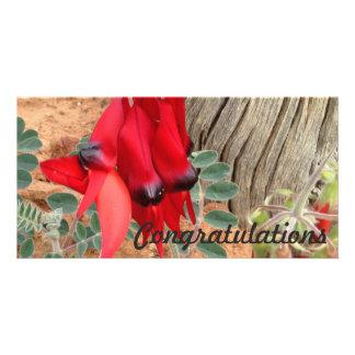 Tarjeta de la foto de la enhorabuena - guisante