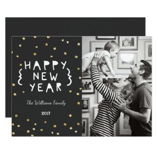 Tarjeta de la foto de la Feliz Año Nuevo del