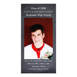 Tarjeta de la foto de la graduación de la pizarra tarjetas fotográficas