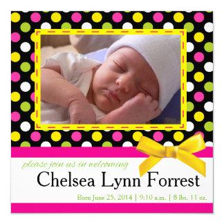 Tarjeta de la foto de la invitación del bebé invitación 13,3 cm x 13,3cm