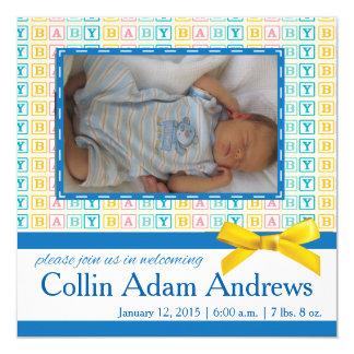 Tarjeta de la foto de la invitación del bloque del invitación 13,3 cm x 13,3cm