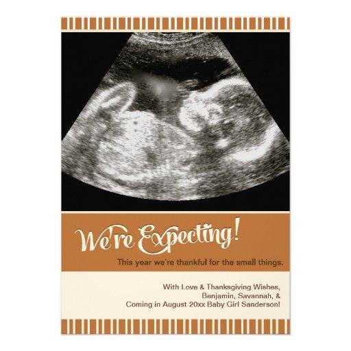 Tarjeta de la foto de la invitación del embarazo