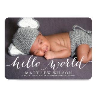 Tarjeta Tarjeta de la foto de la invitación del nacimiento