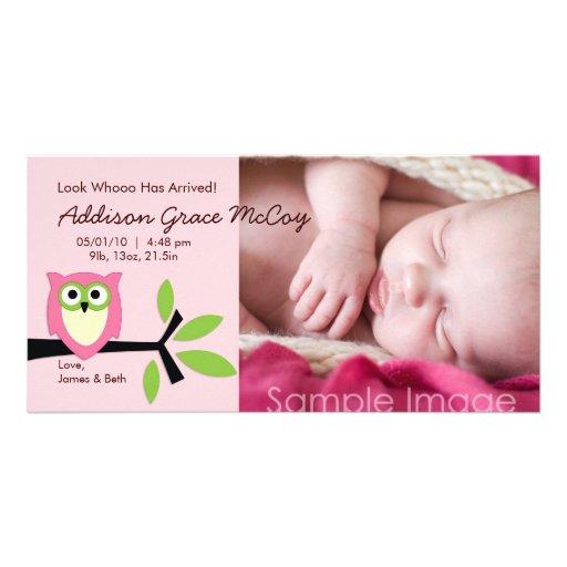 Tarjeta de la foto de la invitación del nacimiento tarjetas con fotos personalizadas