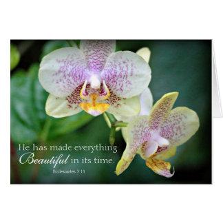 Tarjeta de la foto de la naturaleza de la flor