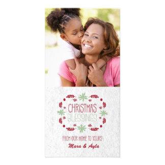 Tarjeta de la foto de las bendiciones del navidad