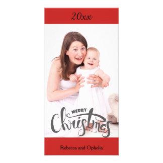Tarjeta de la foto de las Felices Navidad