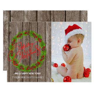 Tarjeta de la foto de las Felices Navidad de la