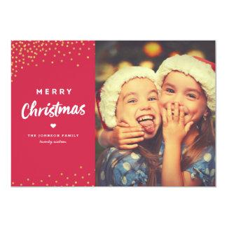 Tarjeta de la foto de las Felices Navidad Invitación 12,7 X 17,8 Cm