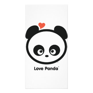 Tarjeta de la foto de Panda® del amor Tarjetas Personales