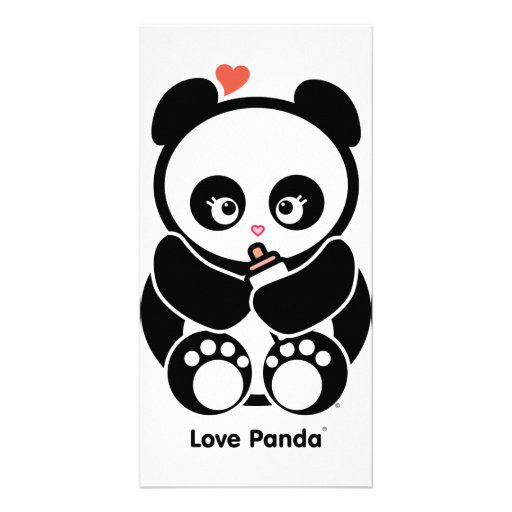 Tarjeta de la foto de Panda® del amor Plantilla Para Tarjeta De Foto