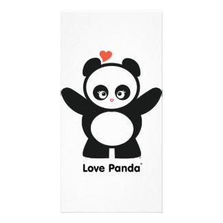 Tarjeta de la foto de Panda® del amor Tarjeta Fotográfica