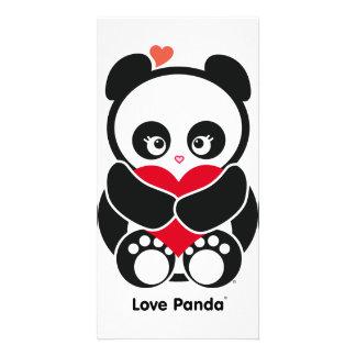 Tarjeta de la foto de Panda® del amor Tarjeta Con Foto Personalizada