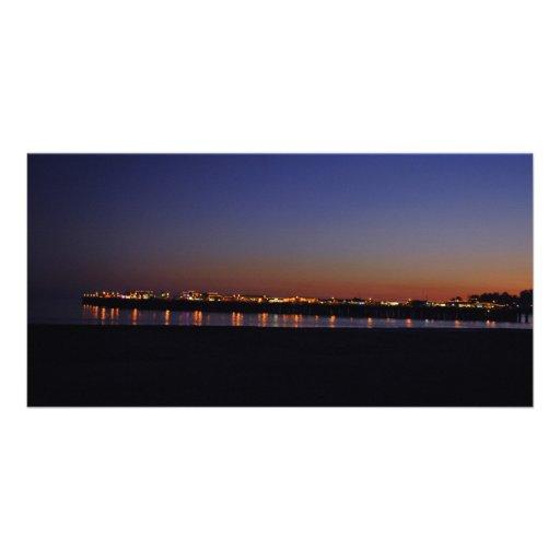 Tarjeta de la foto de Santa Cruz Tarjetas Personales Con Fotos
