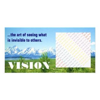 Tarjeta de la foto de Tetons VISION de la primaver Tarjeta Con Foto Personalizada