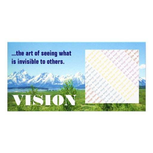 Tarjeta de la foto de Tetons VISION de la primaver Tarjeta Fotografica