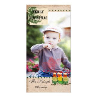 Tarjeta de la foto de tres pequeña navidad de los tarjeta fotografica personalizada