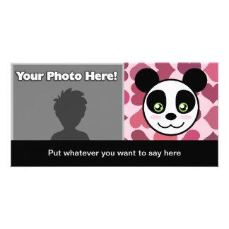 """Tarjeta de la foto del amor de la panda"" (con la  Tarjeta Fotográfica Personalizada"