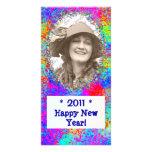 Tarjeta de la foto del Año Nuevo de la celebración Tarjetas Fotográficas Personalizadas