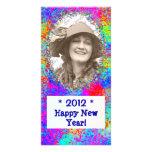 Tarjeta de la foto del Año Nuevo de la celebración Tarjeta Personal Con Foto