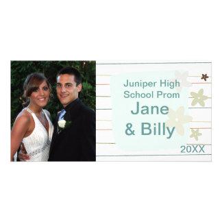 Tarjeta de la foto del baile de fin de curso tarjetas con fotos personalizadas